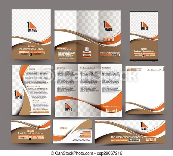 The International School Stationery - csp29067216