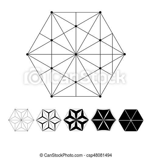 Sacred geometry. the intersection of geometric lines. a... eps ...