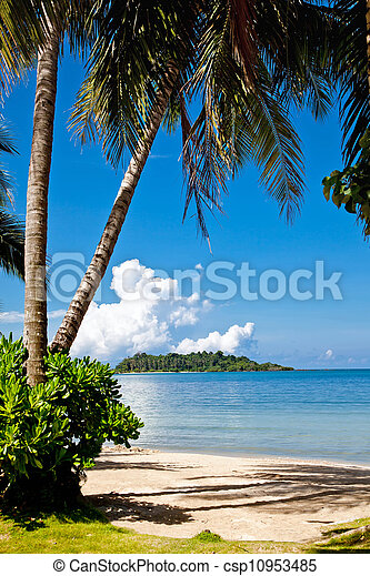 The island of Koh Chang in Thailand. - csp10953485