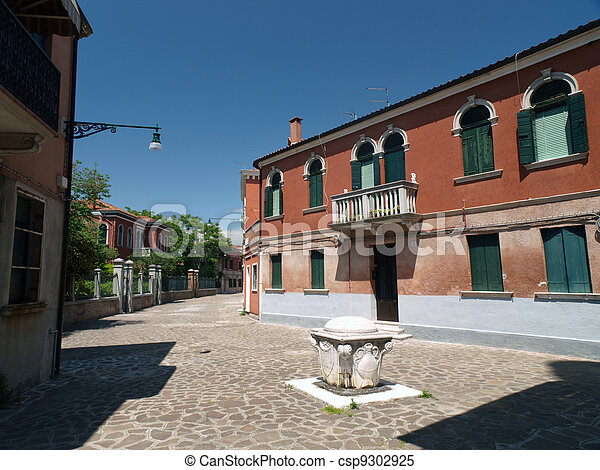 The island of Murano near Venice. Famous for making decorative glass - csp9302925