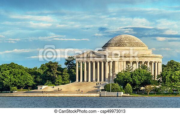 The Jefferson Memorial, a presidential memorial in Washington, D.C. - csp49973013