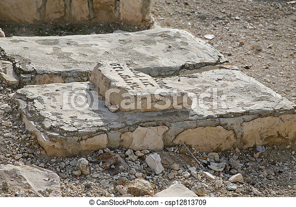 The Jewish cemetery on the Mount of Olives, in Jerusalem - csp12813709