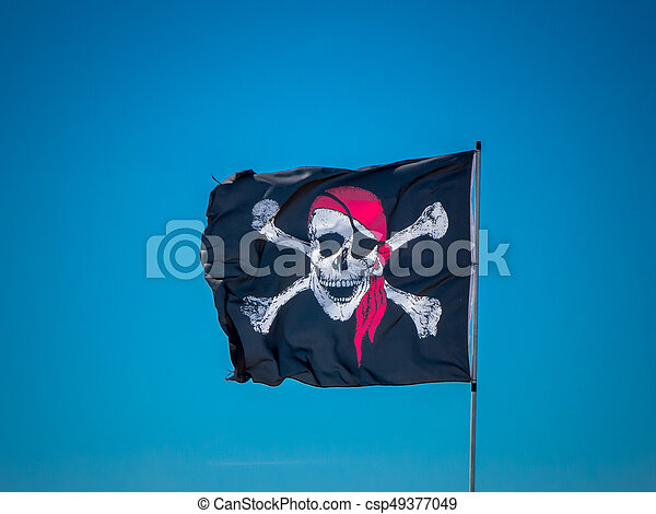 the jolly roger flag - csp49377049