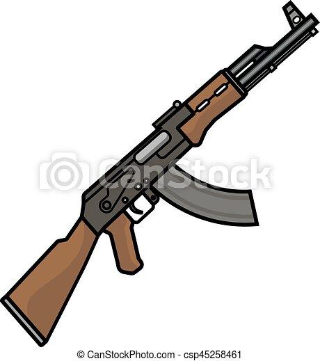 the kalashnikov assault rifle the kalashnikov assault rifle rh canstockphoto com vector assault rifle for sale