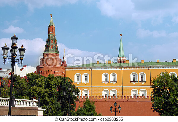 The Kremlin wall with Arsenal tower - csp2383255
