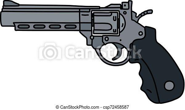The large steel revolver - csp72458587