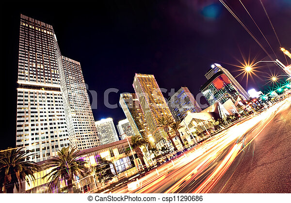The Las Vegas Strip at night - csp11290686
