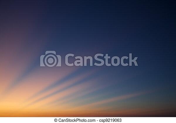 The last rays of the sun - csp9219063