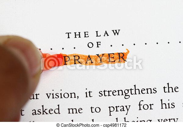 The law of prayer - csp4981172