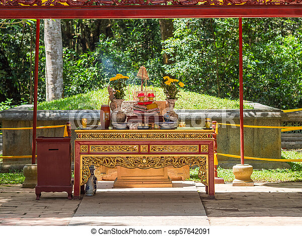 The Le Thai To mausoleum in Thanh Hoa, Vietnam - csp57642091