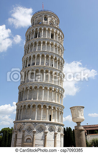 The Leaning Tower of Pisa in Italy - csp7093385