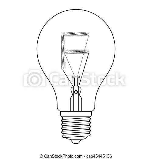 The Letter F In The Alphabet Incandescent Light Bulb Set Outline
