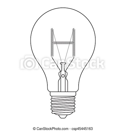 The Letter H In The Alphabet Incandescent Light Bulb Set Outline