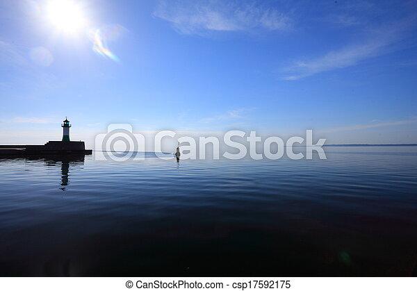 The lighthouse in Sassnitz Ruegen Island Germany - csp17592175