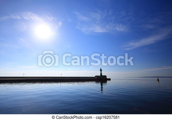 The lighthouse in Sassnitz Ruegen Island Germany - csp16207581