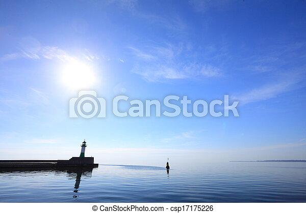 The lighthouse in Sassnitz Ruegen Island Germany - csp17175226