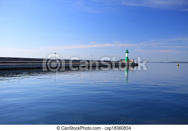 The lighthouse in Sassnitz Ruegen Island Germany - csp18360834