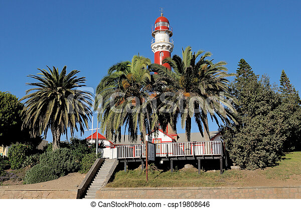 The lighthouse in Swakopmund, Namibia - csp19808646