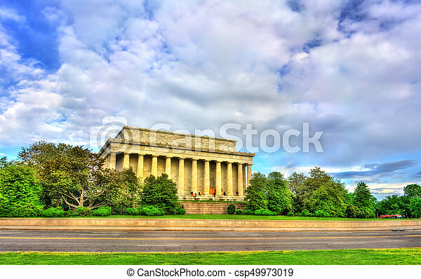 The Lincoln Memorial, an American national monument in Washington, D.C. - csp49973019
