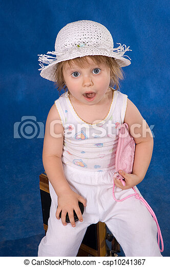 The little girl in a hat - csp10241367