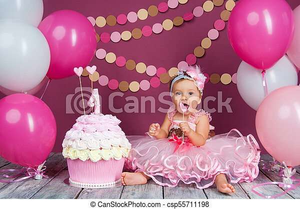 Strange The Little Girls Birthday Girl Was Smeared Into A Cake The First Funny Birthday Cards Online Elaedamsfinfo