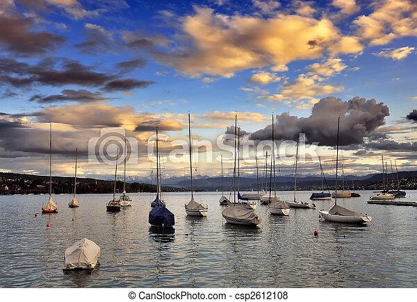 The little port at Zurich lake - csp2612108