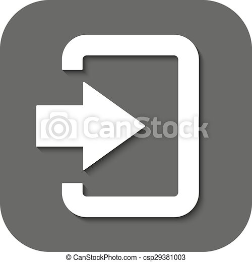 The login icon  Entry and input, authorization symbol  Flat