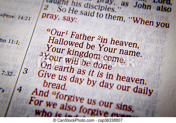 When you pray...Our Father In Heaven