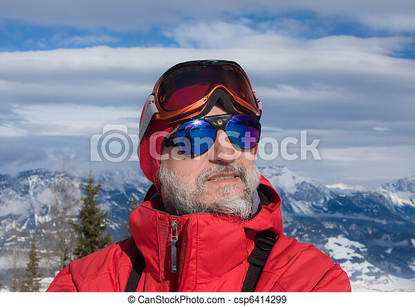 The man on the background of mountains - csp6414299
