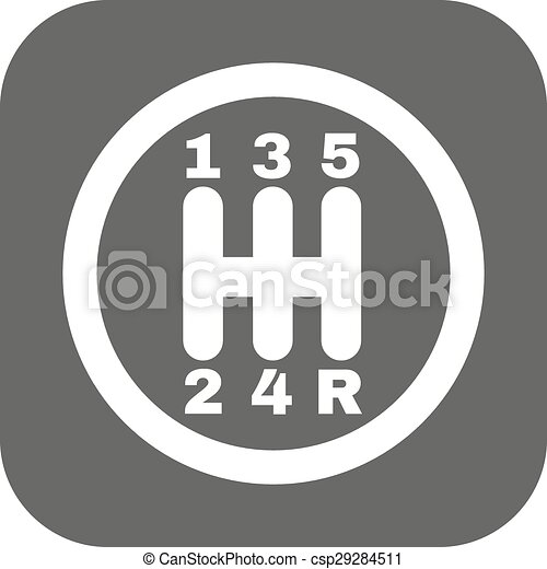 The Manual Gearshift Icon Car And Transmission Symbol Flat Vector