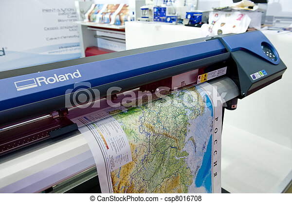 The Map Print Map Printin On The Large Format Printer - Map plotter free