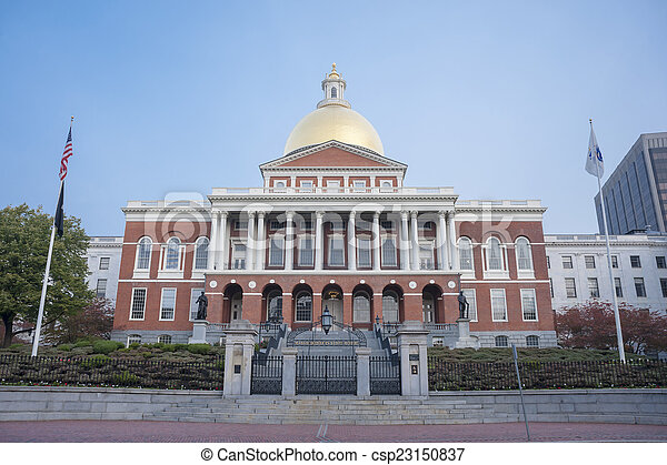 The Massachusetts State House in Boston, MA. - csp23150837