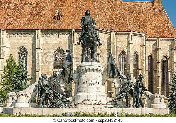 The Matthias Corvinus Monument - csp23432143