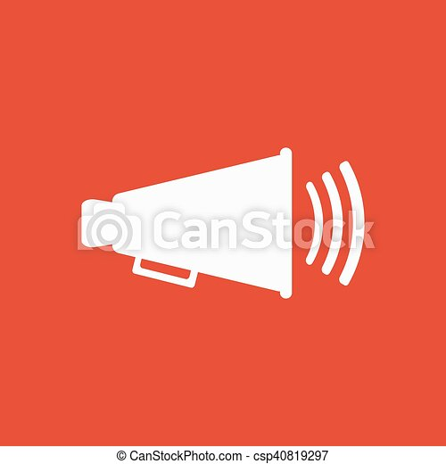 The megaphone icon bullhorn symbol flat vector eps vectors the megaphone icon bullhorn symbol flat csp40819297 publicscrutiny Gallery