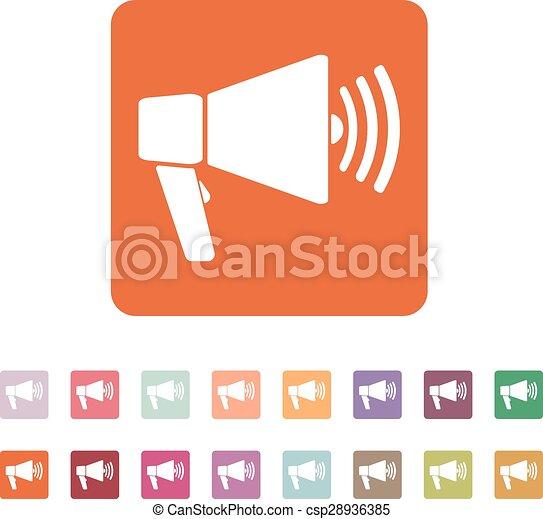 The megaphone icon bullhorn symbol flat vector illustration the megaphone icon bullhorn symbol flat csp28936385 publicscrutiny Gallery