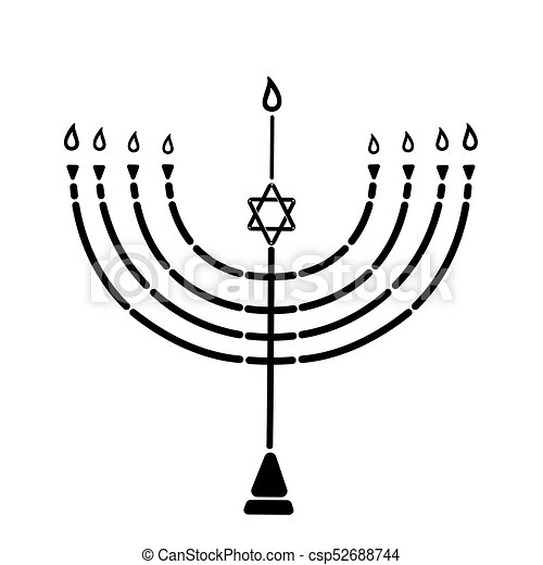 The Menorah With The Star Of David Is A Symbol Of The Jewish