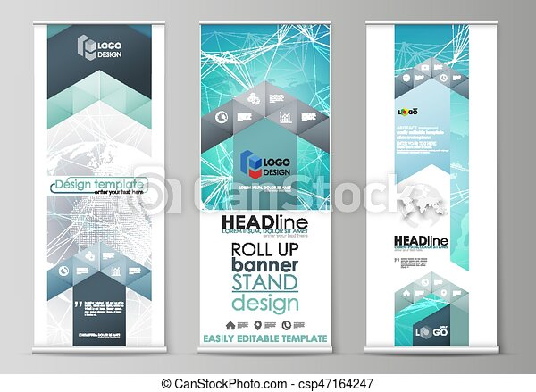 the minimalistic vector illustration of editable layout of roll up
