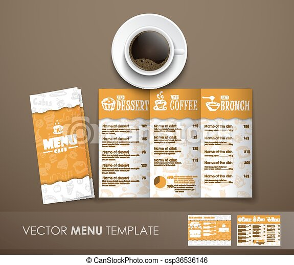 The Mockup Of The Coffee Menu With A Cup Of Coffee Design Triple - Menu mockup template