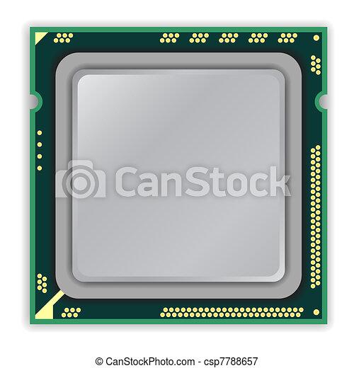 The modern multi core   processor CPU computer - csp7788657