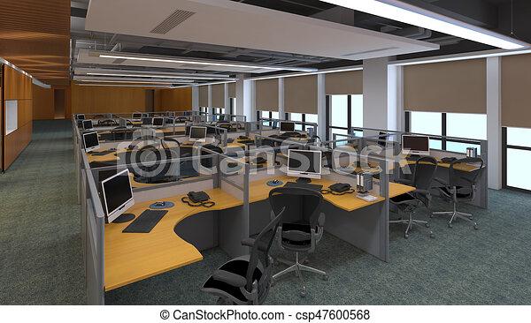 the modern office interior design 3d illustration 3d illustration