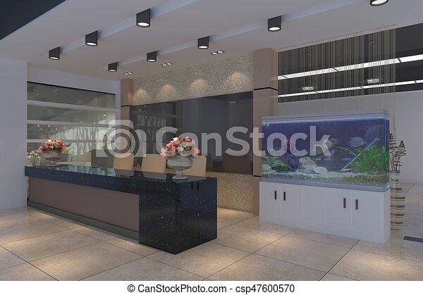 modern office interior. The Modern Office Interior Design 3d Illustration Modern Office Interior
