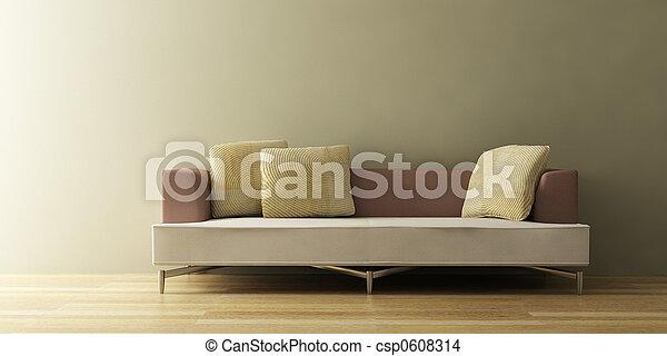 the modern sofa 3D - csp0608314