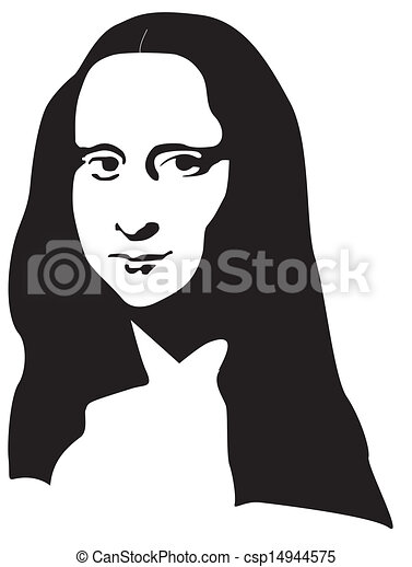 the mona lisa vectors illustration search clipart drawings and rh canstockphoto com mona lisa clip art free Mona Lisa Cartoon Drawing