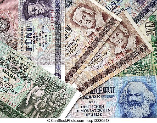 The money of the German Democratic - csp13330543