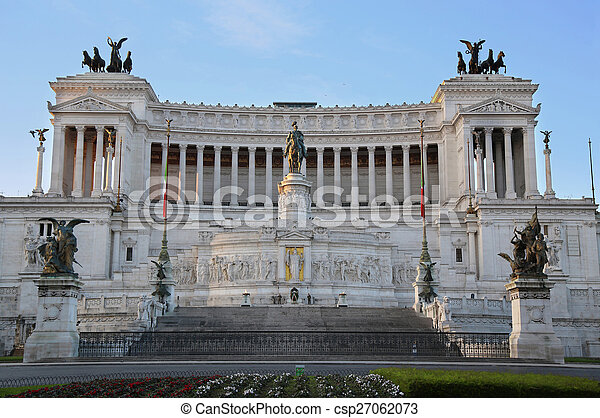 The Monument of Victor Emmanuel II, Venezia Square, in Rome, It - csp27062073