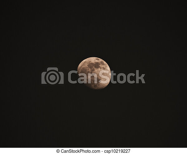 the moon in the sky - csp10219227
