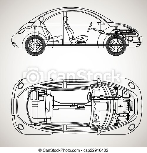 The Most Important Parts Of The Car Vector