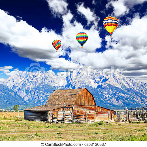 The Moulton Barn in Grand Teton National Park - csp3130587