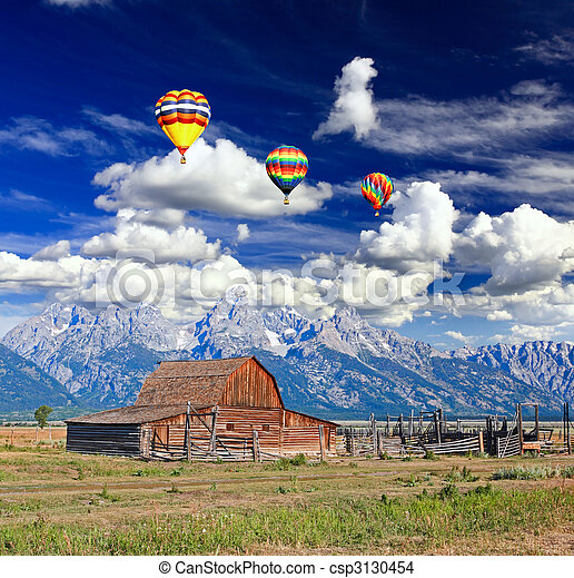 The Moulton Barn in Grand Teton National Park - csp3130454
