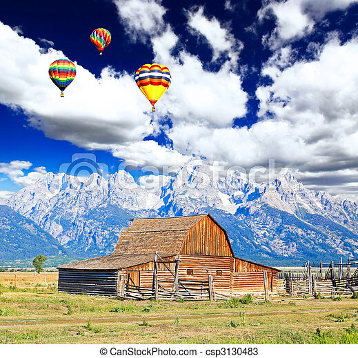 The Moulton Barn in Grand Teton National Park - csp3130483